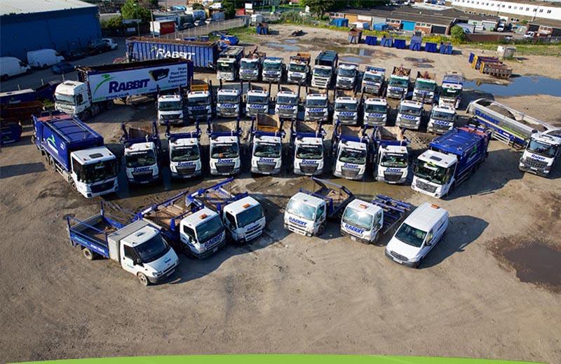 Skip Hire Lorries At Rabbit Skips Lancing
