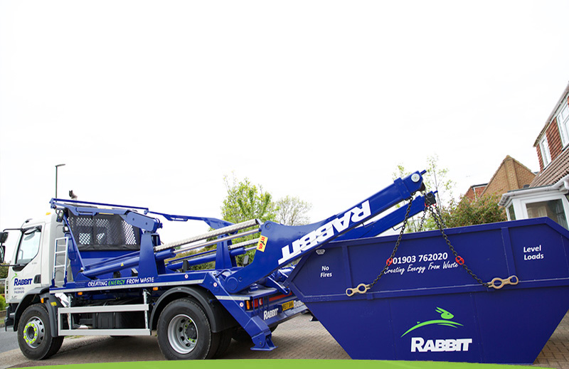 Skip Hire Lorry And Skip In Sussex