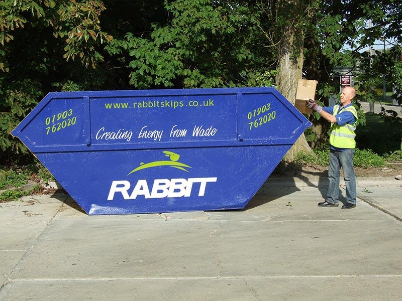 12 yard skip from Rabbit Skip Hire Sussex